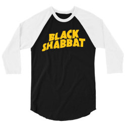 black shabbat in yellow 3/4 Sleeve Shirt | Artistshot