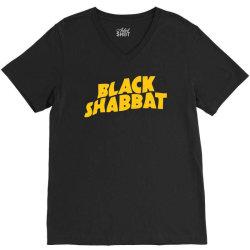 black shabbat in yellow V-Neck Tee | Artistshot