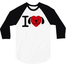 i love dogs   dog lover gift 3/4 Sleeve Shirt | Artistshot