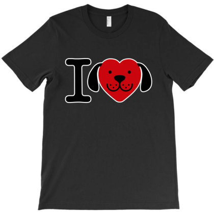 I Love Dogs T-shirt Designed By Top Seller