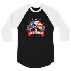 joe exotic   make america exotic again 3/4 Sleeve Shirt | Artistshot
