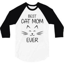funny best cat momever 3/4 Sleeve Shirt   Artistshot