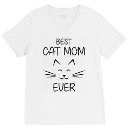 funny best cat momever V-Neck Tee   Artistshot
