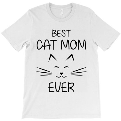 Funny Best Cat Momever T-shirt Designed By Mom Tees