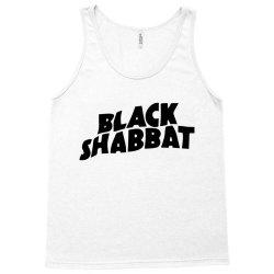 black shabbat in black text Tank Top   Artistshot