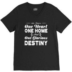 one heart one home and onje glorious destiny V-Neck Tee | Artistshot