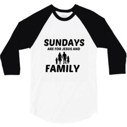 family and jesus sunday 3/4 Sleeve Shirt | Artistshot