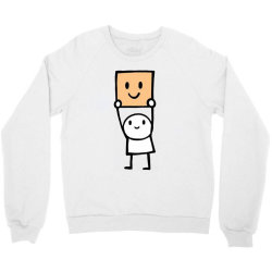 simple way to be happy is with a smile Crewneck Sweatshirt | Artistshot
