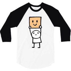 simple way to be happy is with a smile 3/4 Sleeve Shirt | Artistshot