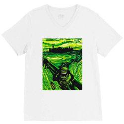 slimers scream V-Neck Tee | Artistshot