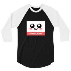 I Love Kawaii 3/4 Sleeve Shirt   Artistshot