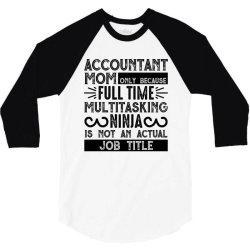 multitasking ninja is not an actual job title 3/4 Sleeve Shirt | Artistshot