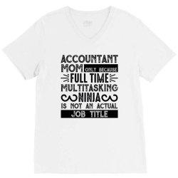 multitasking ninja is not an actual job title V-Neck Tee | Artistshot