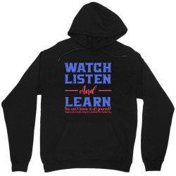 watch listen and learn Unisex Hoodie | Artistshot