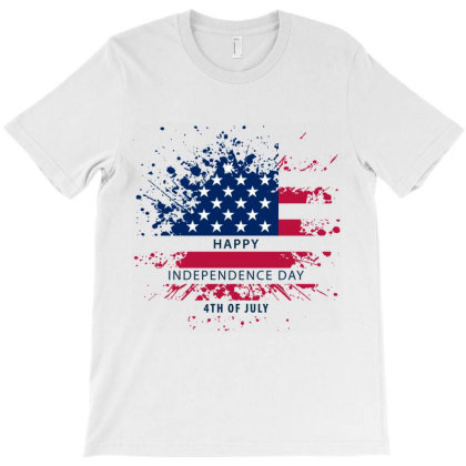Happy Independence Day 4th Of July T-shirt Designed By Tkghosh