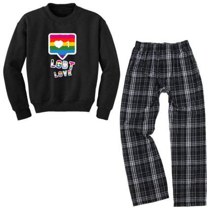 Lgbt Love And Equality Youth Sweatshirt Pajama Set Designed By Yash4346