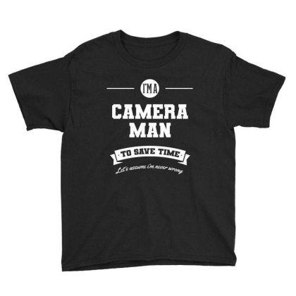 I Am Cameraman - Cameraman Job Gift Funny Youth Tee Designed By Diogo Calheiros
