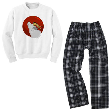 Red Moon Youth Sweatshirt Pajama Set Designed By Exotic12