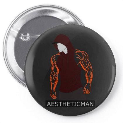 Aesthetic Man 1 Pin-back Button Designed By .m.e.l.u.h.a. Fashion Store