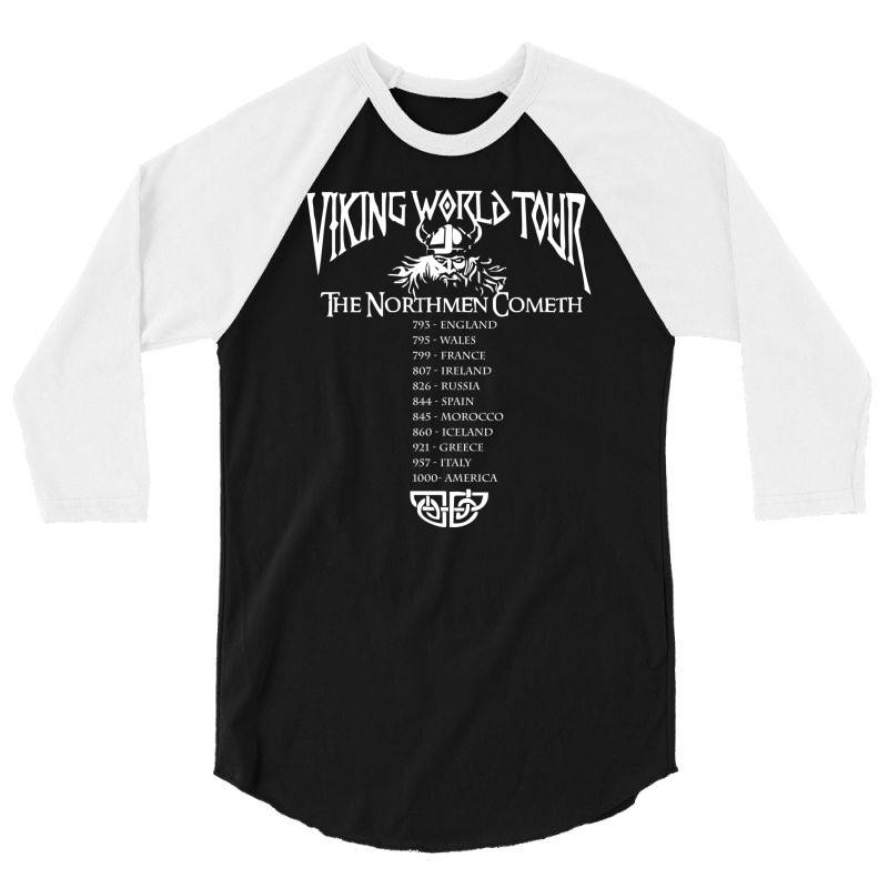 Viking World Tour Funny 3/4 Sleeve Shirt   Artistshot