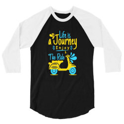 life is journey enjoy the ride 3/4 Sleeve Shirt   Artistshot