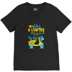 life is journey enjoy the ride V-Neck Tee   Artistshot