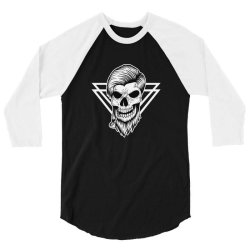 Skull 3/4 Sleeve Shirt | Artistshot
