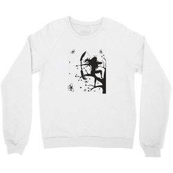 Girl and butterfly Crewneck Sweatshirt | Artistshot