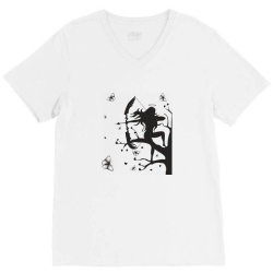 Girl and butterfly V-Neck Tee | Artistshot