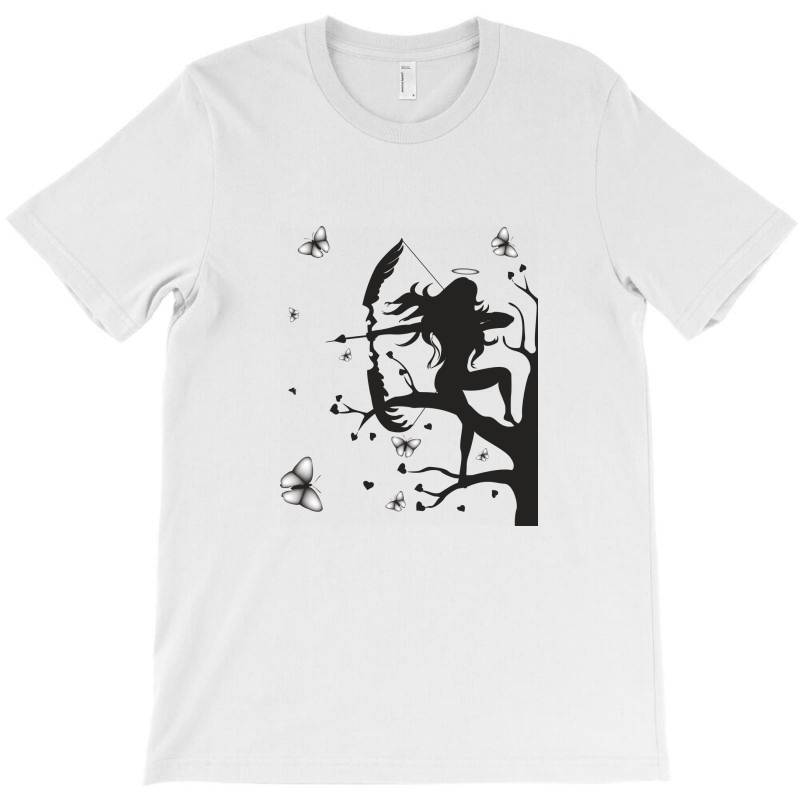 Girl And Butterfly T-shirt | Artistshot