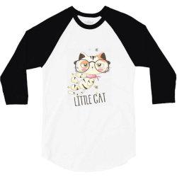 Little cat 3/4 Sleeve Shirt | Artistshot