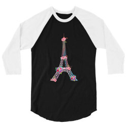 eiffel tower 3/4 Sleeve Shirt | Artistshot