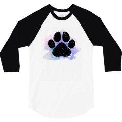 paw watercolor 3/4 Sleeve Shirt | Artistshot