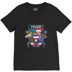 police force against racism and ethnic discrimination V-Neck Tee | Artistshot