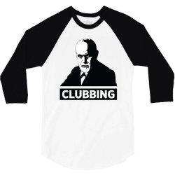 sigmund freud clubbing 3/4 Sleeve Shirt   Artistshot