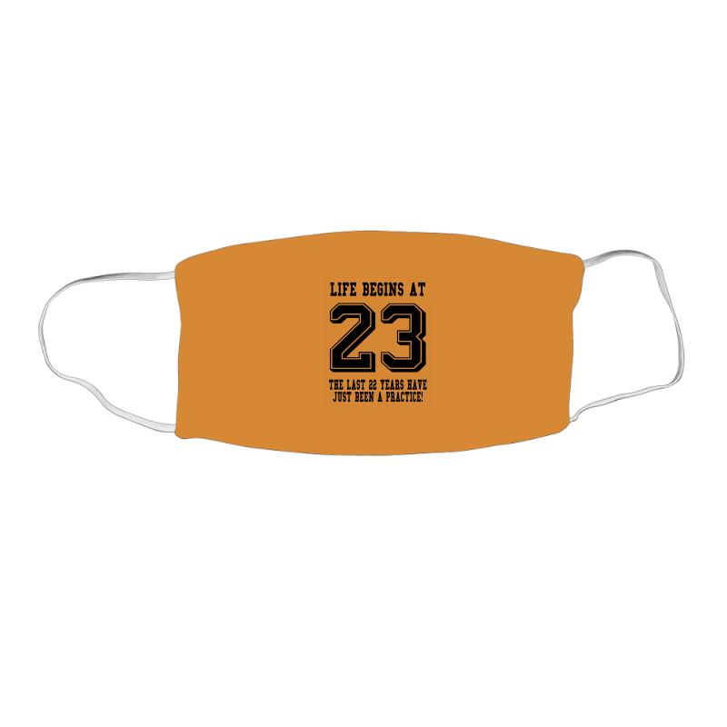 23rd Birthday Life Begins At 23 Face Mask Rectangle | Artistshot