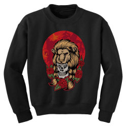 Lion skull Youth Sweatshirt | Artistshot