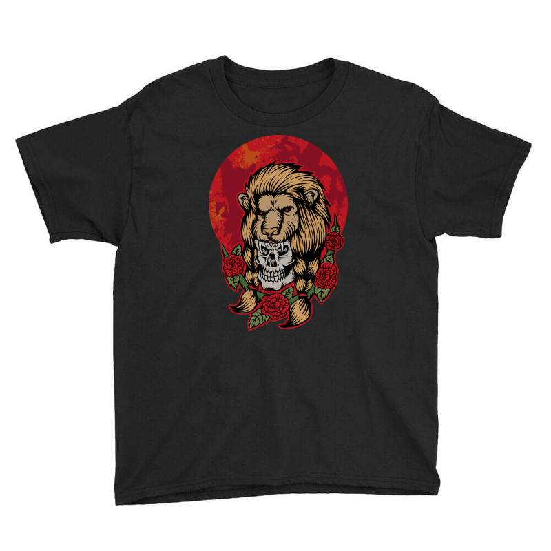 Lion Skull Youth Tee | Artistshot