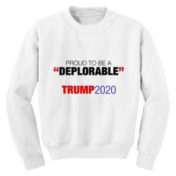 proud to be a deplorable Youth Sweatshirt | Artistshot