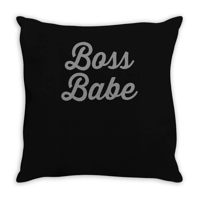 Boss Babe Throw Pillow | Artistshot