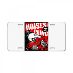 noises of panic License Plate | Artistshot