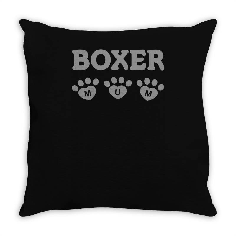 Boxer Mum Throw Pillow | Artistshot