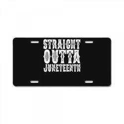 strht outta juneteenth License Plate | Artistshot