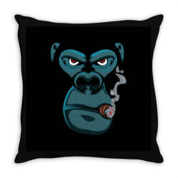 Angry Monkey Throw Pillow | Artistshot