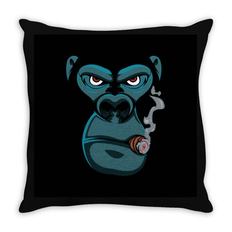 Angry Monkey Throw Pillow   Artistshot