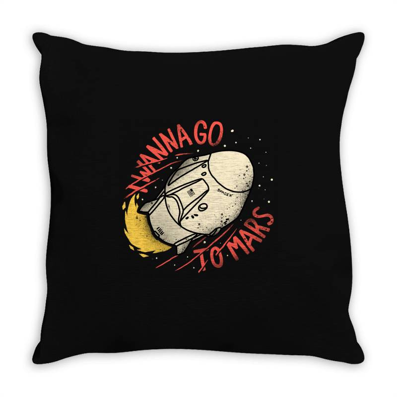 I Wanna Go To Mars Throw Pillow | Artistshot