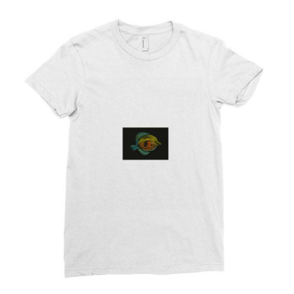 Exclusive Fish Vector Art Ladies Fitted T-shirt Designed By Chiks