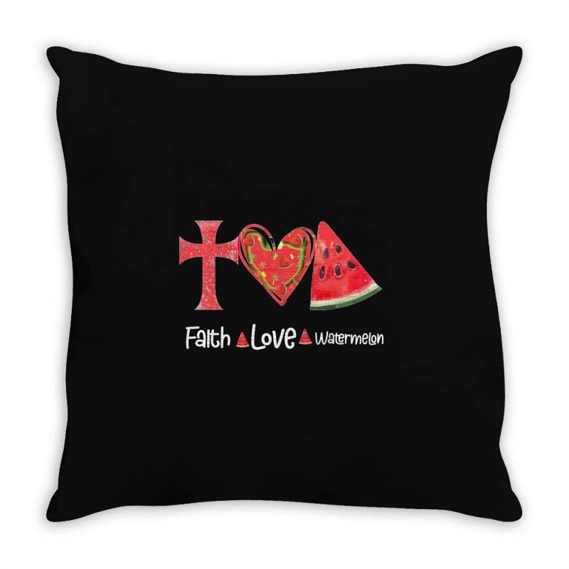 Faith Love Watermelon Throw Pillow | Artistshot