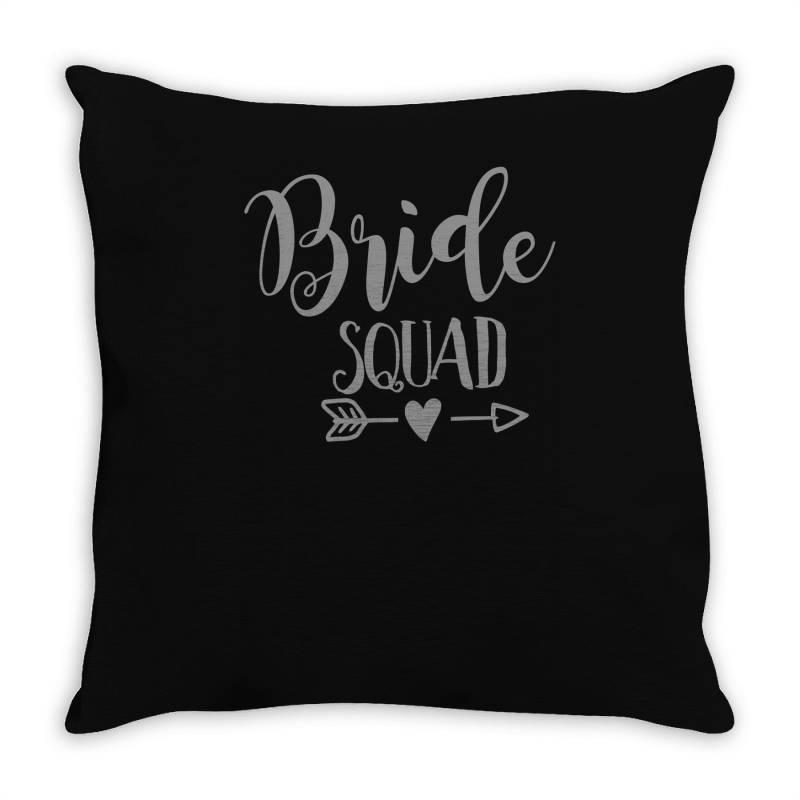 Bride Squad Throw Pillow   Artistshot