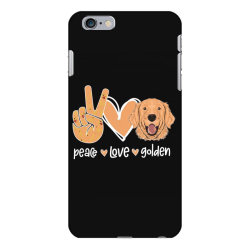 Peace Love Golden iPhone 6 Plus/6s Plus Case | Artistshot